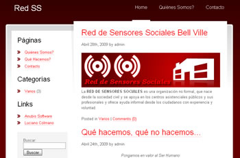 Web de la Red de Sensores Sociales Bell Ville