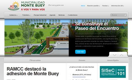 Sitio web Municipalidad de Monte Buey