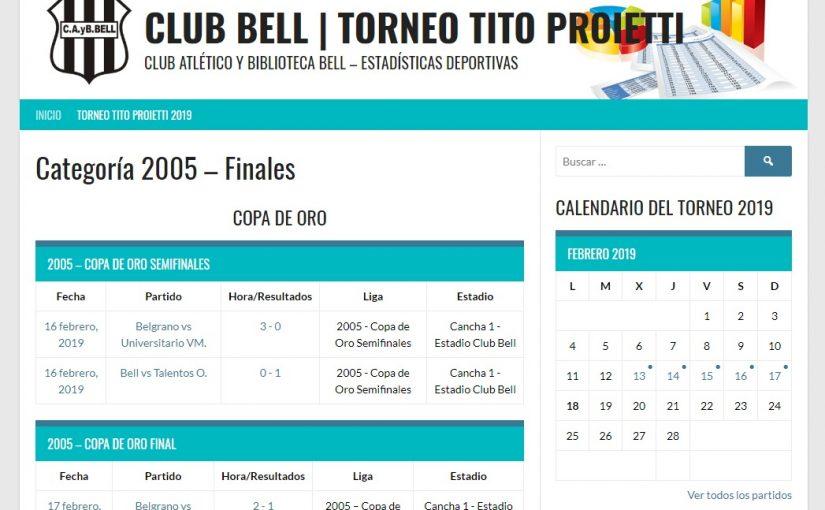 """Sitio web 1° Mundialito """"Tito"""" Proietti"""