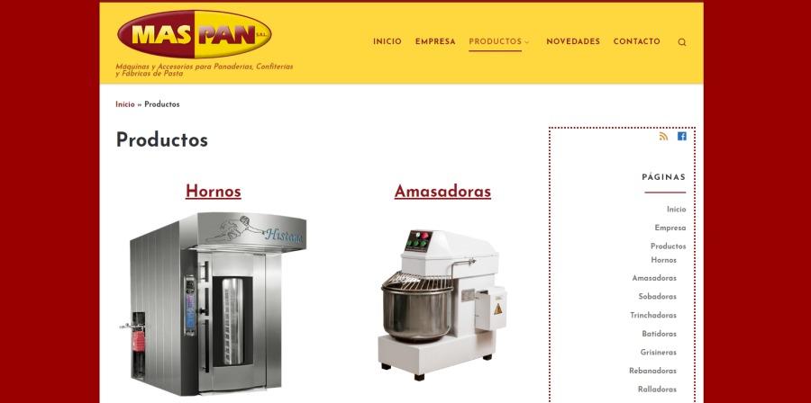 Renovación sitio web MAS PAN