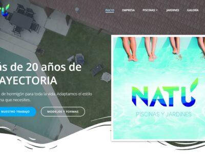 Sitio web de NATÚ Piscinas y Jardines