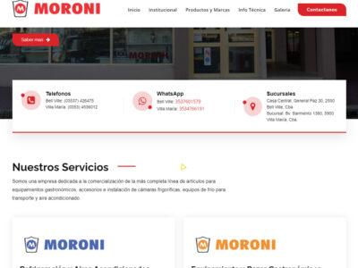 Sitio Web Moroni SRL